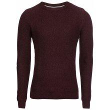 TOM TAILOR Pulovr 'basic structured sweater' burgundská červeň