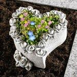 Die moderne Hausfrau Květináč Srdce z růží 646830