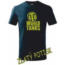 dětské tričko World of tanks námořní modrá