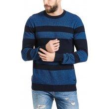 BENCH - Structured Stripe C Neck Dark Navy Blue (NY031)