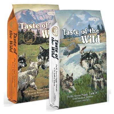 Taste of the Wild High Prairie Canine 12,2 kg +Taste of the Wild Pacific Stream Puppy 12,2 kg