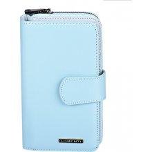 Lorenti Dámská kožená peněženka velká italská modrá 76116 L.BLUE