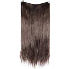 HOTstyle Clip in 100% lidský vlasový pás 40cm - tmavě hnědá