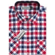 Košile s krátkým rukávem červená - Heureka.cz 9fc954ee2e