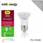 Whitenergy Led reflektorová 60xSMD E27 3W teplá bílá