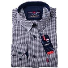 Černobílá nadměrná Košile Tonelli 110958 1bd6afd7a9