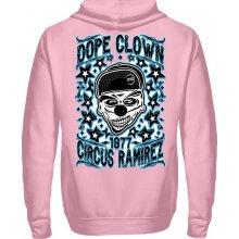 Ramirez Pánská Mikina s kapucí přes hlavu Dope Clown Světle růžová 096b79d2396