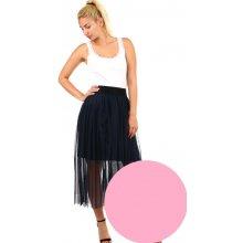 TopMode dlouhá dámská tylová sukně růžová 3fe34b6165