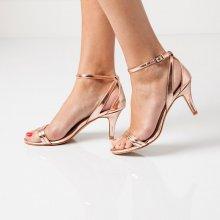 Blancheporte Páskové boty na podpatku zlatá/růžová