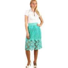 TopMode letní dámská sukně s krajkou zelená fad129f593