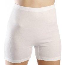 EVONA KARINA bílé dámské kalhotky s nohavičkou 100% bavlna česaná