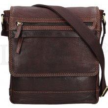 Lagen pánská kožená taška přes rameno 22014 tmavě hnědá d5abd2cfb81