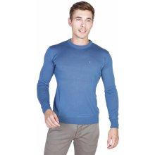 Trussardi Pánský svetr s kulatým výstřihem modrá