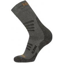 Husky ponožky Alpine New šedo-oranžové