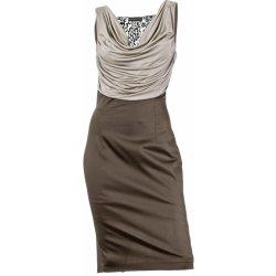 13ade13dfce Patrizia dini dámské společenské šaty s krajkou šedohnědé ...