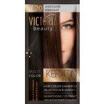 Victoria Beauty Keratin Therapy Tónovací šampón na vlasy V 20, Chocolate , 4-8 umytí