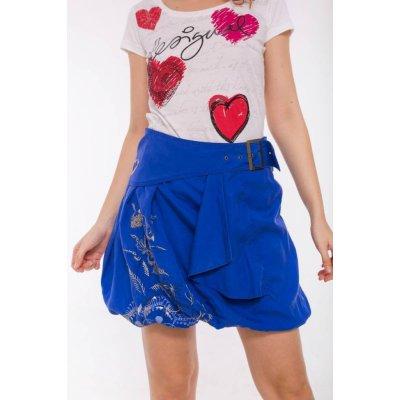 Desigual sukně Hallie azul klein