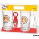 CurePink Dárkové balení pivních sklenic The Simpsons 540 ml 2ks