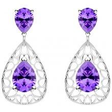 0a2696c1b Preciosa stříbrné náušnice Lyra Violet 5261 56