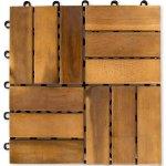 Dlaždice z akátového dřeva, 30 x 30 x 2,4 cm