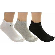 Converse ponožky Basic Low Cut 3 Pack - E747A Mid Gray Melange White  4cff2df695