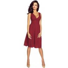 Kartes Moda šaty dámské KM117-10 šifon obálkový výstřih bordó b44e94d8c6