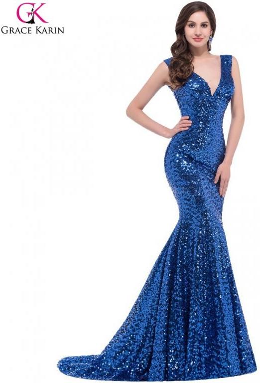 Grace Karin sexy večerní šaty plesové CL6052-4 Modrá alternativy -  Heureka.cz 81c38d662c