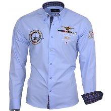 Binder De Luxe Košile pánská 82106 dlouhý rukáv Modrá 15c3488296
