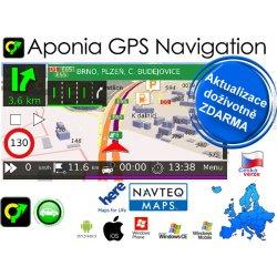 Aponia GPS Navigation - mapy Evropa Navteq + Lifetime