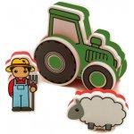 Meadow kids Pěnová stavebnice Traktor zelený
