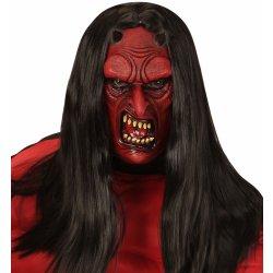 dafe25485 Karnevalový kostým Obličejová maska čerta latexová