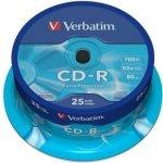 Verbatim CD-R 700MB 52x, spindle, 25ks (43432)