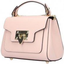 b754de4b87 Italská kožená kabelka na rameno 5322 růžová