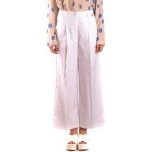 7a3ca5b4754 Twin Set Ležérní kalhoty Kalhoty Dámské Bílá