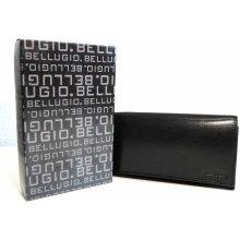 315a745a1c7 BELLUGIO Kožená peněženka černá mírně lesklá s kapsičkou na mince na zip