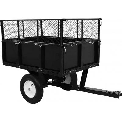 Meedo Sklápěcí přívěsný vozík za zahradní traktor nosnost 300 kg
