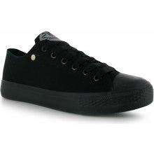 Dunlop Canvas Low Junior Trainers Black/Black