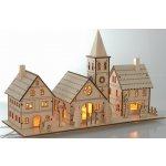 City-Illumination VD-AXX211140, Vánoční dřevěná vesnice - svítící, vnitřní