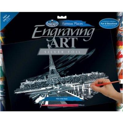 Škrábací obrázky 40 x 30 cm Eifellova věž