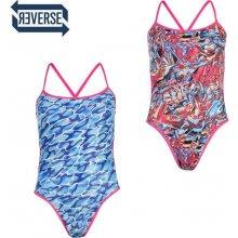 b95d1b139 Speedo Flip Reversible Swimsuit Ladies růžová/modrá