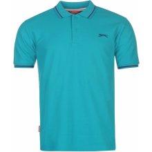 9663b0990023 Slazenger Tipped Polo Shirt Mens Teal Blue