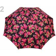 Dámský vystřelovací deštník 12 ks 2 růžová ostrá