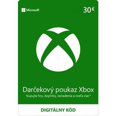 Microsoft Xbox Live dárková karta 30 EUR