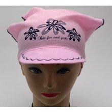 RDX Dívčí šátek s kšiltem 7539 světle růžová b8b5fc59ea