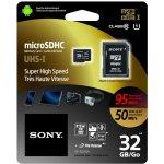 Sony microSD 32GB UHS-I U1 + adaptér SR32UXA
