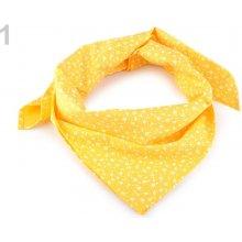 Bavlněný šátek s květy 65x65 cm 3ks 1 žlutá žloutková ffdf562a03