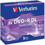 Verbatim DVD+R DL 8,5GB 8x, jewel, 1ks (pe-308191)