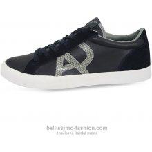 Kožené tenisky Armani Jeans tmavě modré