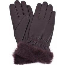 c81abcba475 Coveri Collection kožené rukavice dámské tmavě hnědá