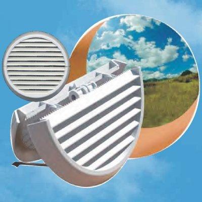 Edil Plast, Refax větrací mřížka sklopná Ø 170 mm krytka stavitelná montáž zevnitř ven DFR140